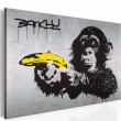 Obraz - Stój, bo małpa strzela! (Banksy) A0-N1869