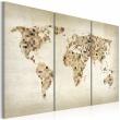 Obraz - Świat w odcieniach beżu - tryptyk A0-N2116