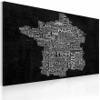 Obraz - Text map of France on the black background A0-N2187