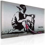 Obraz - Union Jack Kid (Banksy) (60x40 cm)