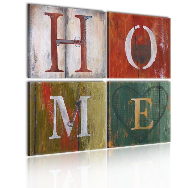Obraz - Welcome home (80x80 cm) A0-N1301