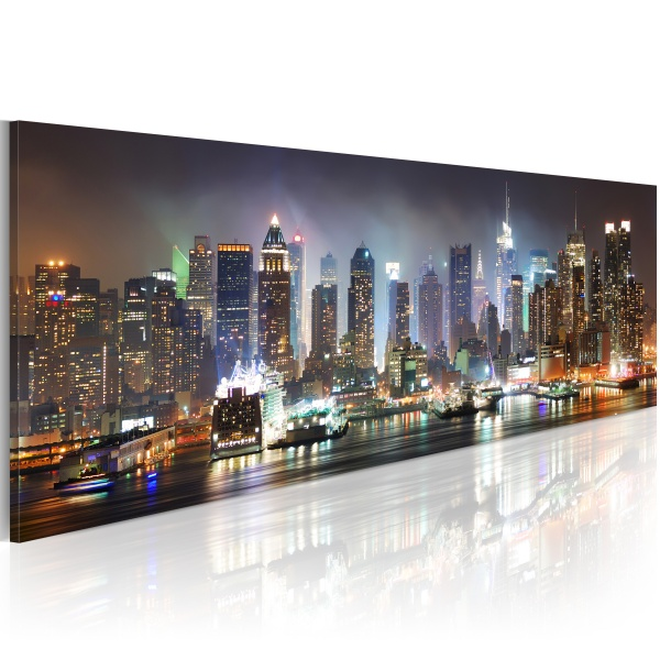 Obraz - White reflections in New York (120x40 cm) A0-N1210