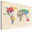 Obraz - Włoskie nazwy państw w żywych kolorach A0-N2160