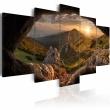 Obraz - Zachód słońca w dolinie A0-N3725