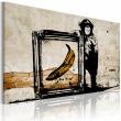 Obraz - Zainspirowane Banksym - sepia A0-N2923