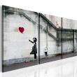 Obraz - Zawsze jest nadzieja (Banksy) - tryptyk A0-N1915