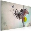 Obraz - zebra - abstrakcja A0-N2345
