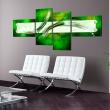 Obraz - zielony  motyw abstrakcyjny A0-N2436