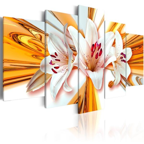 Obraz - Złoto lilii (100x50 cm) A0-N1122