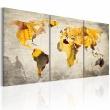 Obraz - Żółte kontynenty A0-N2018