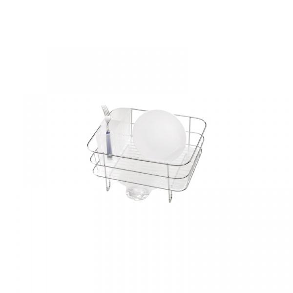 Ociekacz do naczyń WIRE FRAME COMPACT Simple Human biały KT1130