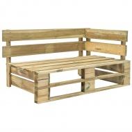 Ogrodowa ławka narożna z palet, drewno FSC, zielona