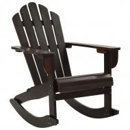 Ogrodowy fotel bujany, drewniany, brązowy