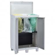 Ogrodowy pojemnik do segregacji odpadów, 3 worki, 65x38x102 cm
