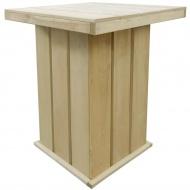 Ogrodowy stolik barowy, impregnowane drewno FSC, 75x75x110 cm