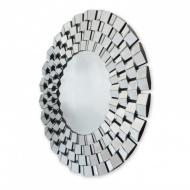 Okrągłe lustro dekoracyjne w ramie lustrzanej Eris
