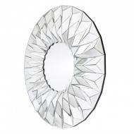 Okrągłe nowoczesne lustro dekoracyjne w ramie lustrzanej Hecate