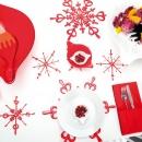 Ozdoba dekoracja świąteczna 4 szt. Koziol FLAKES XS srebrne