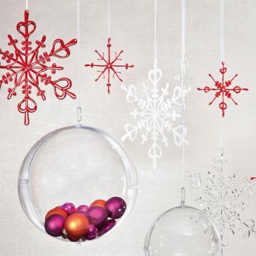 Ozdoba dekoracja świąteczna 4 szt. Koziol FLAKES XS czerwone