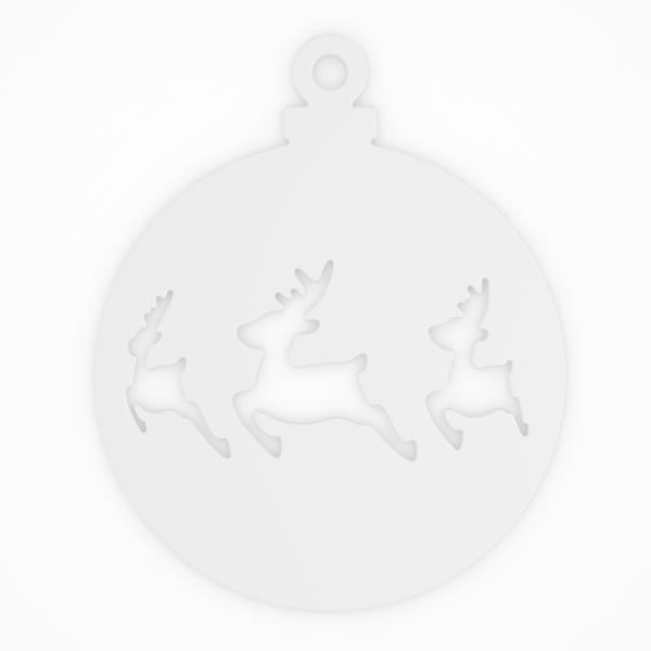 Ozdoba świąteczna Koziol Deer 2szt. biała KZ-5110525
