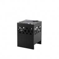 Palenisko czarne stalowe kwadratowe SHIGA