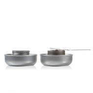 Palniki z paliwem do fondue 4x8,5 cm Boska srebrne
