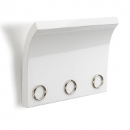 Panel z magnesami na klucze i listy Umbra Magnetter biały