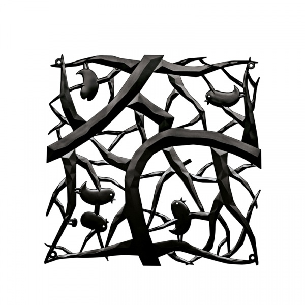 Panele dekoracyjne 4 szt. Koziol Pi:p czarne KZ-2042526