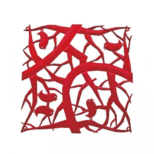 Panele dekoracyjne 4 szt. Koziol Pi:p czerwone KZ-2042536