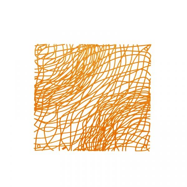 Panele dekoracyjne 4 szt. Koziol Silk pomarańczowe KZ-2033509