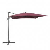 Parasol ogrodowy 250 x 250 x 235 cm bordowy/ciemnoszary Garbo BLmeble