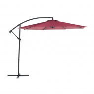 Parasol ogrodowy Ø300 cm burgundowy Russo BLmeble