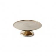 Patera Johnsen Cake Stand Soft Gold L śr. 31,5x10 cm Riviera Maison