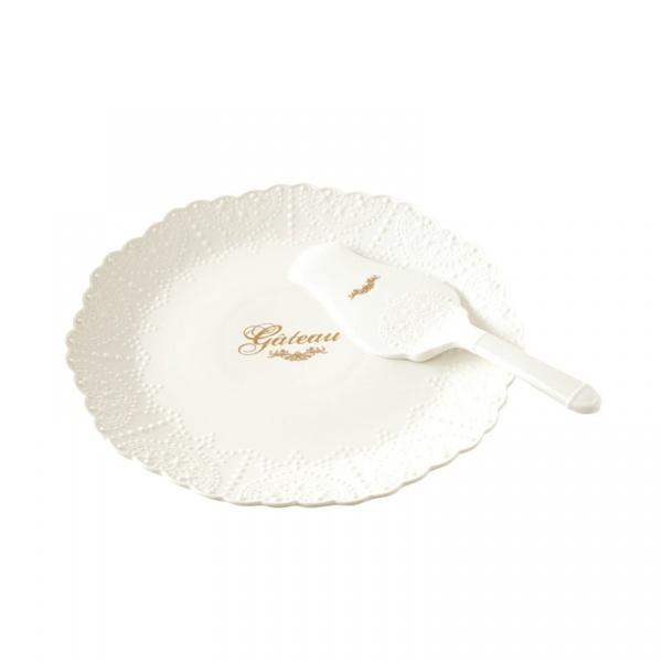Patera z łopatką na ciasto 30cm Nuova R2S Maison Chic 1271 MADE