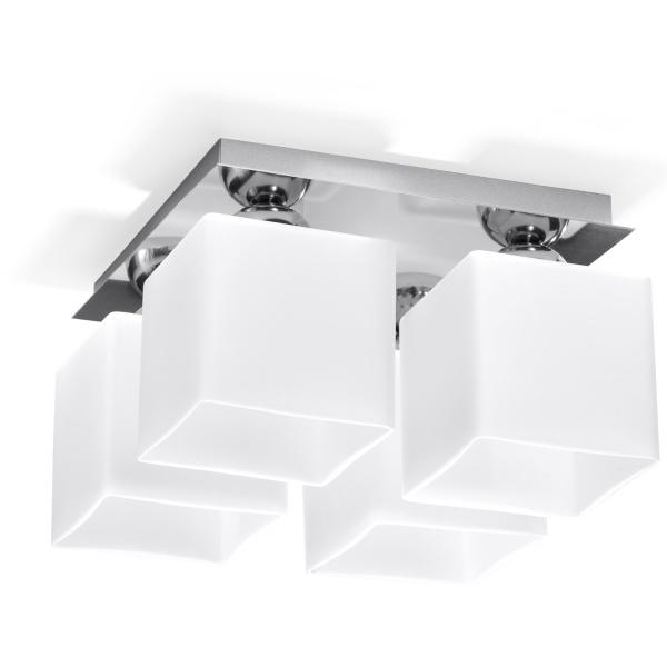 Plafon 18x30x30cm Sollux Lighting Piazza4 biały SL.0228