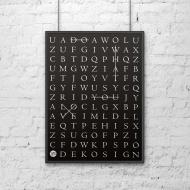 Plakat dekoracyjny 50x70 cm DO WHAT YOU LOVE DekoSign czarny