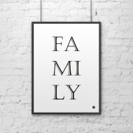 Plakat dekoracyjny 50x70 cm FAMILY DekoSign biały
