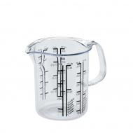 Plastikowy dzbanek-miarka 0,5l Kuchenprofi przezroczysty