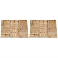 Płytki tarasowe, 12 szt., 50 x 50 cm, drewno FSC, brązowe