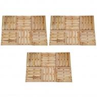 Płytki tarasowe, 18 szt., 50 x 50 cm, drewno FSC, brązowe