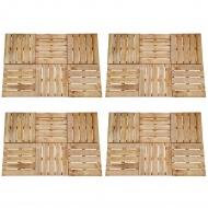 Płytki tarasowe, 24 szt., 50 x 50 cm, drewno FSC, brązowe