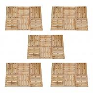 Płytki tarasowe, 30 szt., 50 x 50 cm, drewno FSC, brązowe