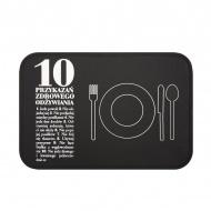 Podkładka stołowa 10 Przykazań + talerzyk Healthy Plan By Ann - Anna Lewandowska