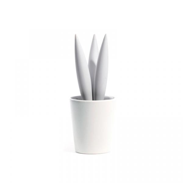 Podstawka pod naczynia w doniczce Legnoart Cereus biała - bez opakowania TT-1W(1)