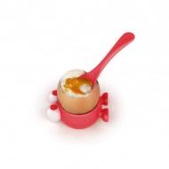 Podstawka z łyżeczką do jajek Egg Watcher MSC International czerwony