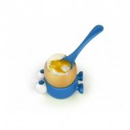 Podstawka z łyżeczką do jajka Egg Watcher MSC International niebieski