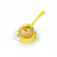 Podstawka z łyżeczką do jajka Egg Watcher MSC International żółty