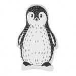 Poduszka dla dzieci pingwin 32 x 48 cm biało-czarna HAJDARABAD