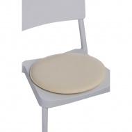 Poduszka na krzesło okrągła ecru