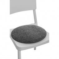 Poduszka na krzesło okrągła szara jasna